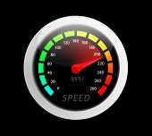 foto of meter stick  - Beautiful realistic vector speedometer ilustration - JPG