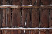 Weathered Wood Of Old Barn In Winter poster