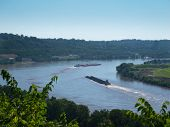 Barges on the Ohio River
