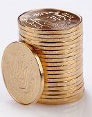 Viele Goldmünzen. Kleingeld.