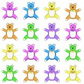 Medium Multi Colored Teddy Bear Pattern