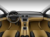 Light beige leather car interior