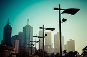 stock photo of cbd  - Melbourne one of famous city in Australia - JPG