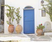 House entrance in a mediterranean island
