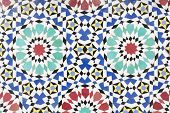 Traditional handmade Moroccan mosaic as background