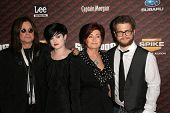 Ozzy Osbourne and Kelly Osbourne with Sharon Osbourne and Jack Osbourne  at Spike Tv's 'Scream 2008'. Greek Theatre, Hollywood, CA. 10-18-08