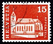 Postage Stamp Switzerland 1968 St. Mauritius Church, Appenzell