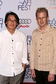 Raybon Kan and Jason Stutter  at the 2008 AFI Fest Centerpiece Gala Screening of 'The Wrestler'. Grauman's Chinese Theatre, Hollywood, CA. 11-06-08