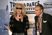 Penelope Spheeris and Lloyd Kaufman  at the Press Conference for the 10th Anniversary Troma Dance Fi
