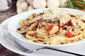 Chicken And Mushroom Linguine