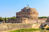 stock photo of mausoleum  - The Mausoleum of Hadrian Castel Sant Angelo Rome Italy - JPG