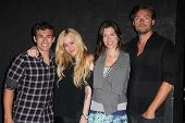 Matthew Ziff, Jennifer Blanc, Caitlin Keats, Chris Meyer at the wrap party for the upcoming