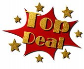 Explosion Red & Gold Stars - Top Deal