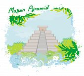 picture of ziggurat  - Mayan Pyramid Chichen - JPG