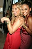 Heather Betts and Christina Milian  at the Red White and Blue Summer Oasis presented by Declare Yourself. Shore Estates, West Hollywood, CA. 08-23-08