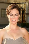 Maggie Siff  at the Premiere Screening of 'Sons of Anarchy'. Paramount Theater, Hollywood, CA. 08-24