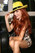 Phoebe Price at a recording session for the book on tape of