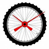 Bicycle Wheel Clock Face