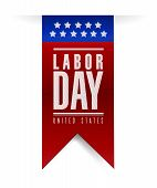 picture of labor  - labor day banner sign illustration design over a white background - JPG