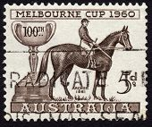 Postage Stamp Honoring The Melbourne Cup Horse Race