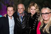 MOSCOW - JUNE, 26: R. Gigineishvili,  Nikita Mikhalkov, T. Mikhalkova, N. Mikhalkova. �?��?�¡harity  foundation Russian Siluet. Fashion show  at the Russian Academy of art . June 26, 2014 in Moscow, Russia