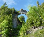 Arch Rock From The Road, Mackinac Island