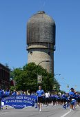 Lincoln High School Marching Band At The Ypsilanti, Mi 4Th Of July Parade