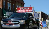 Overrule Citizens United Marchers At The Ypsilanti, Mi 4Th Of July Parade