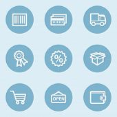 Shopping web icon set 2 , blue buttons