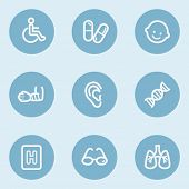 Medicine  web icon set 2, blue buttons