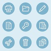 Document web icon set 1 ,  blue buttons