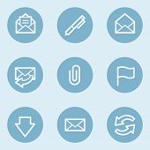 E-mail web icons,  blue buttons