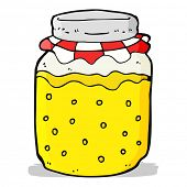 cartoon honey jar