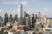 Dallas, Texas/USA - July 6, 2014: View of city skyline from Reunion Tower