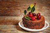 Chocolate Cake Mini With Cherries