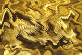 close up of the golden ripple texture