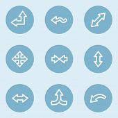 Arrows web icon set 2 , blue buttons
