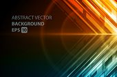 Abstract vector background. Technology geometric lines design.