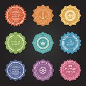 Vintage vector design elements. Retro style typographic labels,  tags, badges, stamps, arrows and em