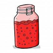 cartoon home made preserve