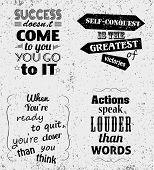 Set of Quotes Typographical Posters, Vector Design. Motivational Success Quotes for Inspirational Ar