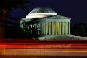 Jefferson Memorial at night - Washington D.C. United States