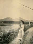 LEGNICA (LIEGNITZ), FORMERLY GERMANY, NOW POLAND, CIRCA THIRTIES - Vintage portrait of young woman w