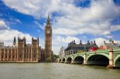 stock photo of big-ben  - Big Ben and Houses of Parliament London UK - JPG
