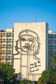 Che Guevara Image In Front Of Revolution Square, Havana