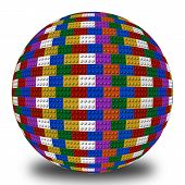 Sphere of colored blocks