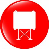 Billboard Button Icon Web Sign