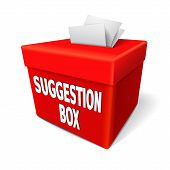 A Suggestion Box With Feedback Notes