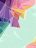 Abstract Background Illustration Featuring Random Geometric Patterns