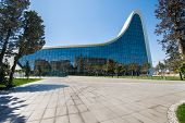 BAKU- MAY 03: Heydar Aliyev Center on May 3, 2014 in Baku, Azerbaijan. Heydar Aliyev Center won the